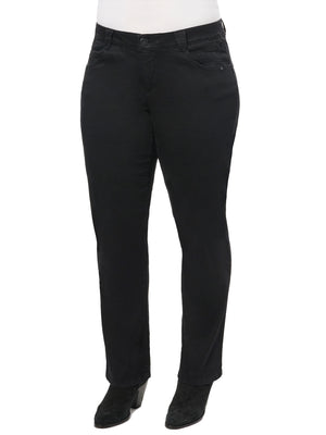 "Black Denim ""Ab""solution® Straight Leg Plus Jeans"