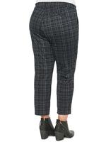 """Ab""solution High Rise Plaid Plus Trouser"