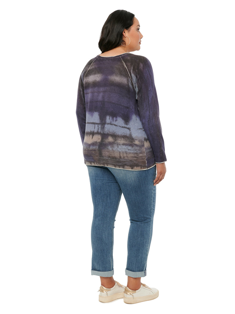 Load image into Gallery viewer, Long Sleeve Tie Dye Plus Sweater