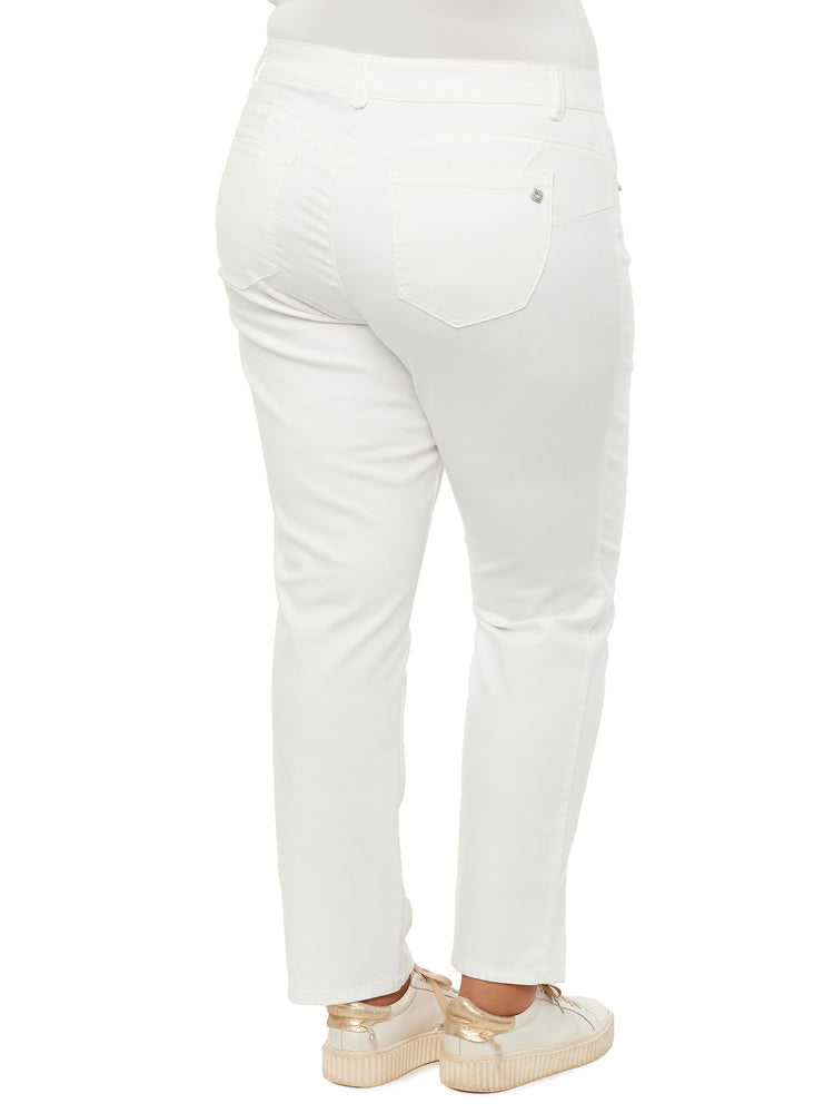 """Ab""solution Optic White Plus Straight Leg Jeans"
