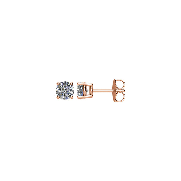 14K Rose Gold 1 CTW Diamond Earrings