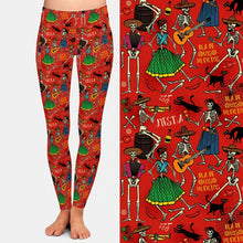 Load image into Gallery viewer, Day of the Dead Leggings