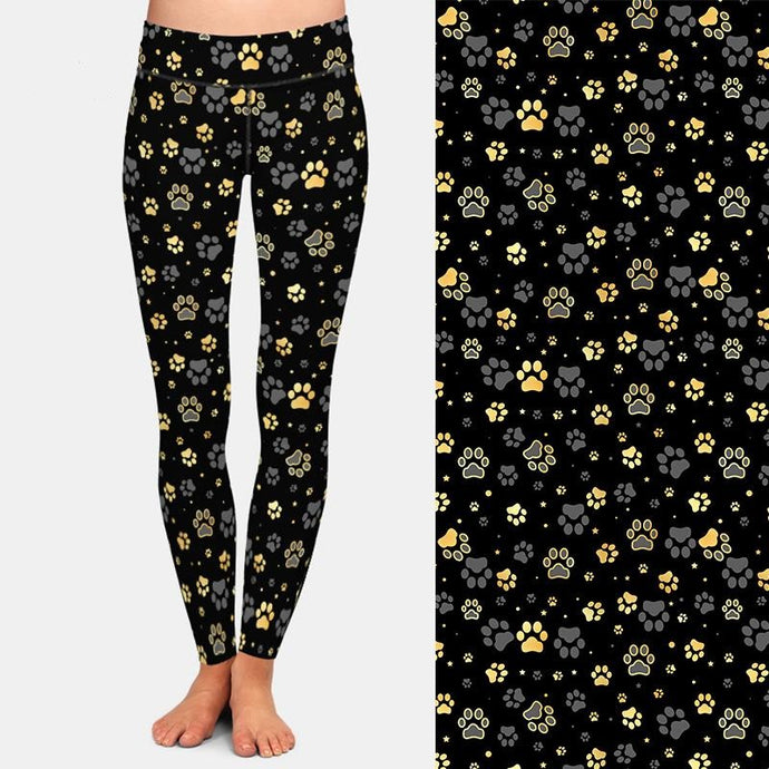 Faux Paw Prints Galore Leggings