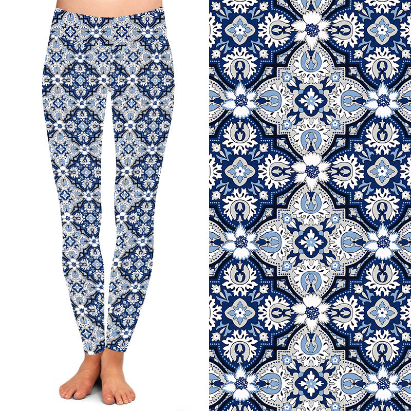 Ice Blue Mandala Leggings