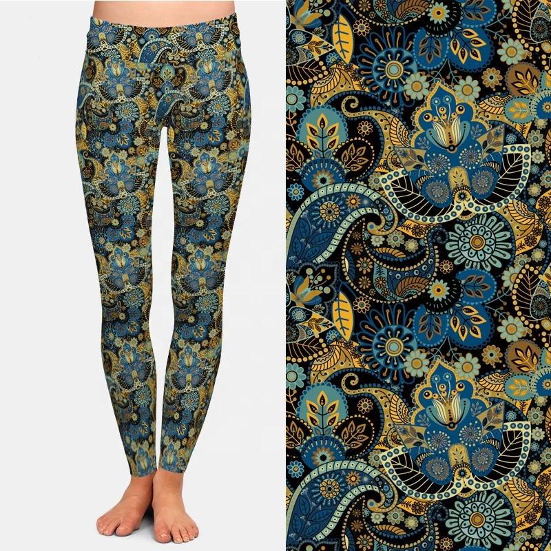 Green Multi Paisley Leggings