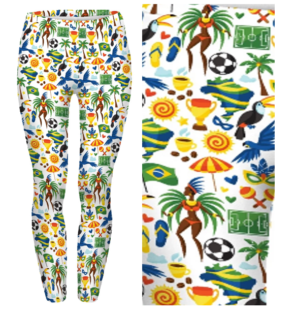 I Love Brazil Leggings