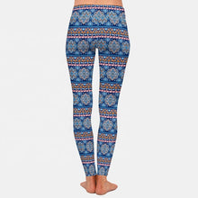 Load image into Gallery viewer, Berry Blue Mandala Leggings