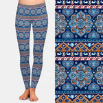 Berry Blue Mandala Leggings