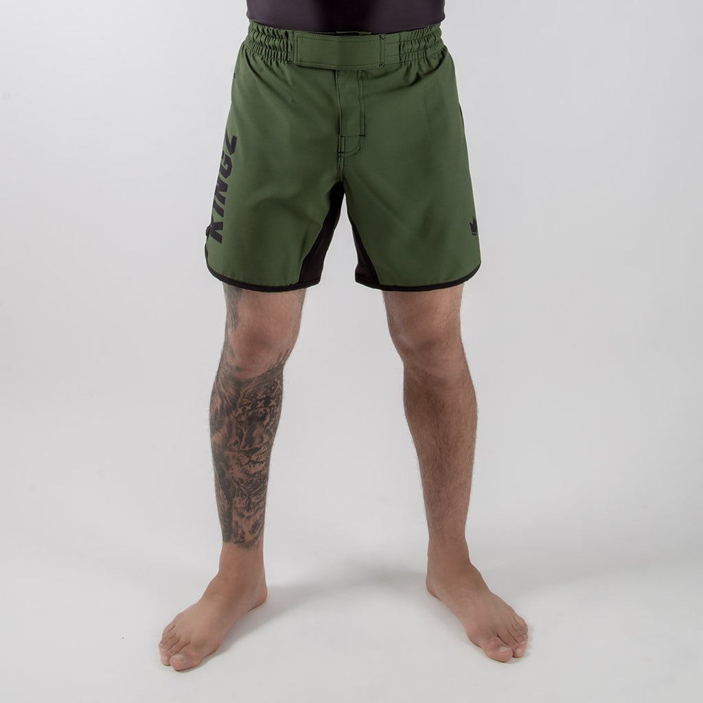 Kingz Army Shorts Front View
