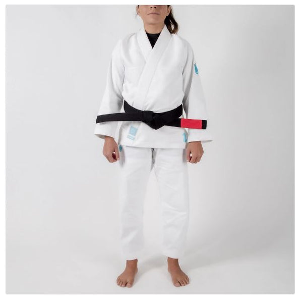 Kingz The ONE Women's Jiu Jitsu Gi - White/Sky Blue (Free white belt)