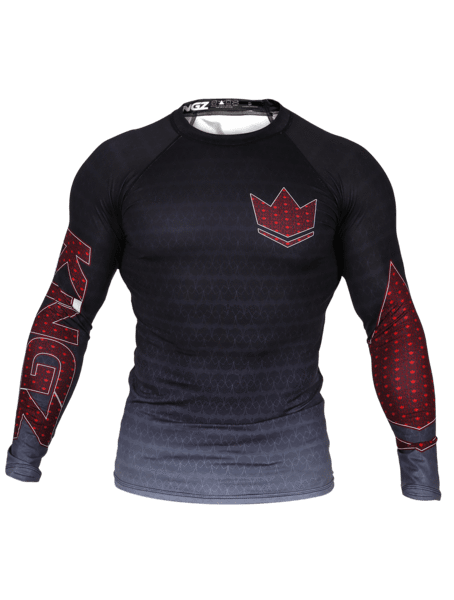 Crown 3.0 Ranked Rash Guard - Black