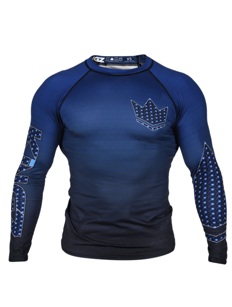 Crown 3.0 Ranked Rash Guard - Blue