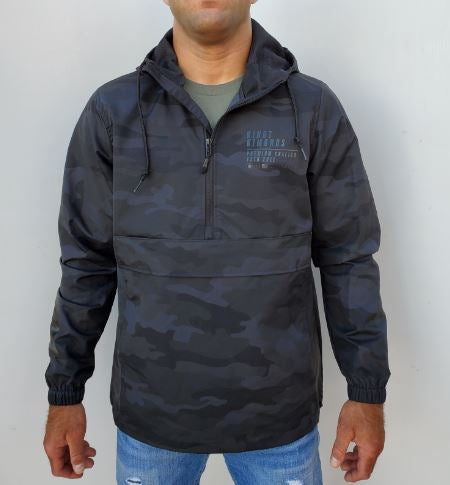 Kingz Anorak Jacket- Black Camo