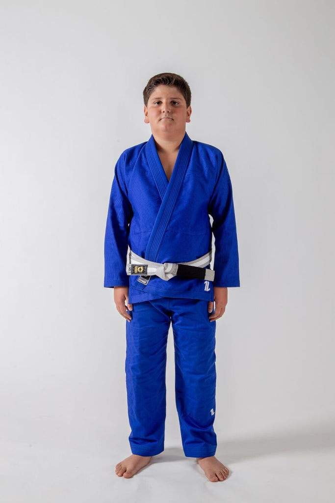 Kingz The ONE Kids Jiu Jitsu Gi-Blue (Free white belt)
