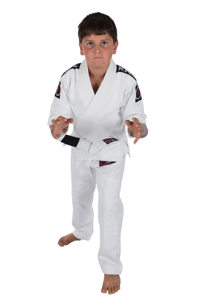 Kids Basic 2.0 Jiu Jitsu Gi - White - W/ Free White Belt