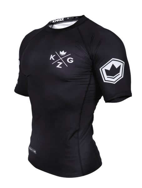 Ranked V3 S/S Rash Guard - Black