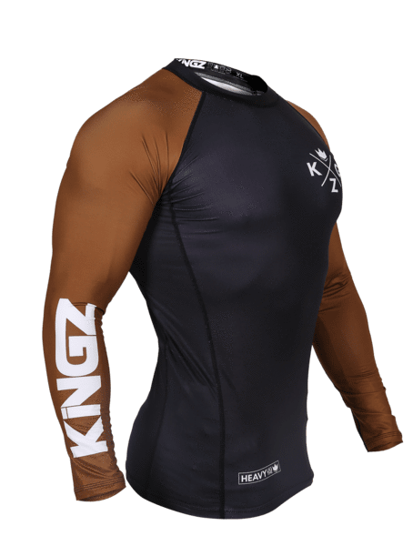 Ranked V3 L/S Rash Guard - Brown