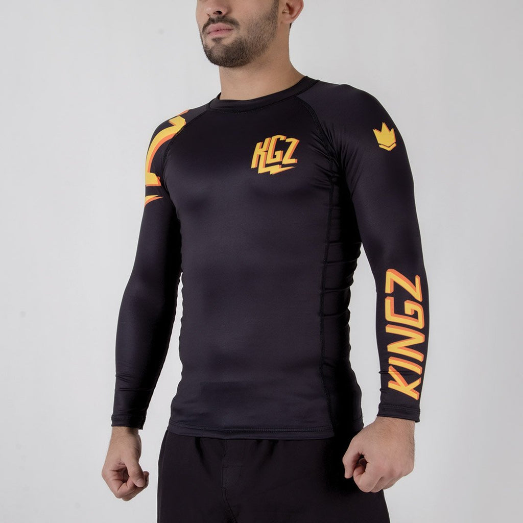 Kingz KGZ Rashguard Orange Edition Diagonal Facing