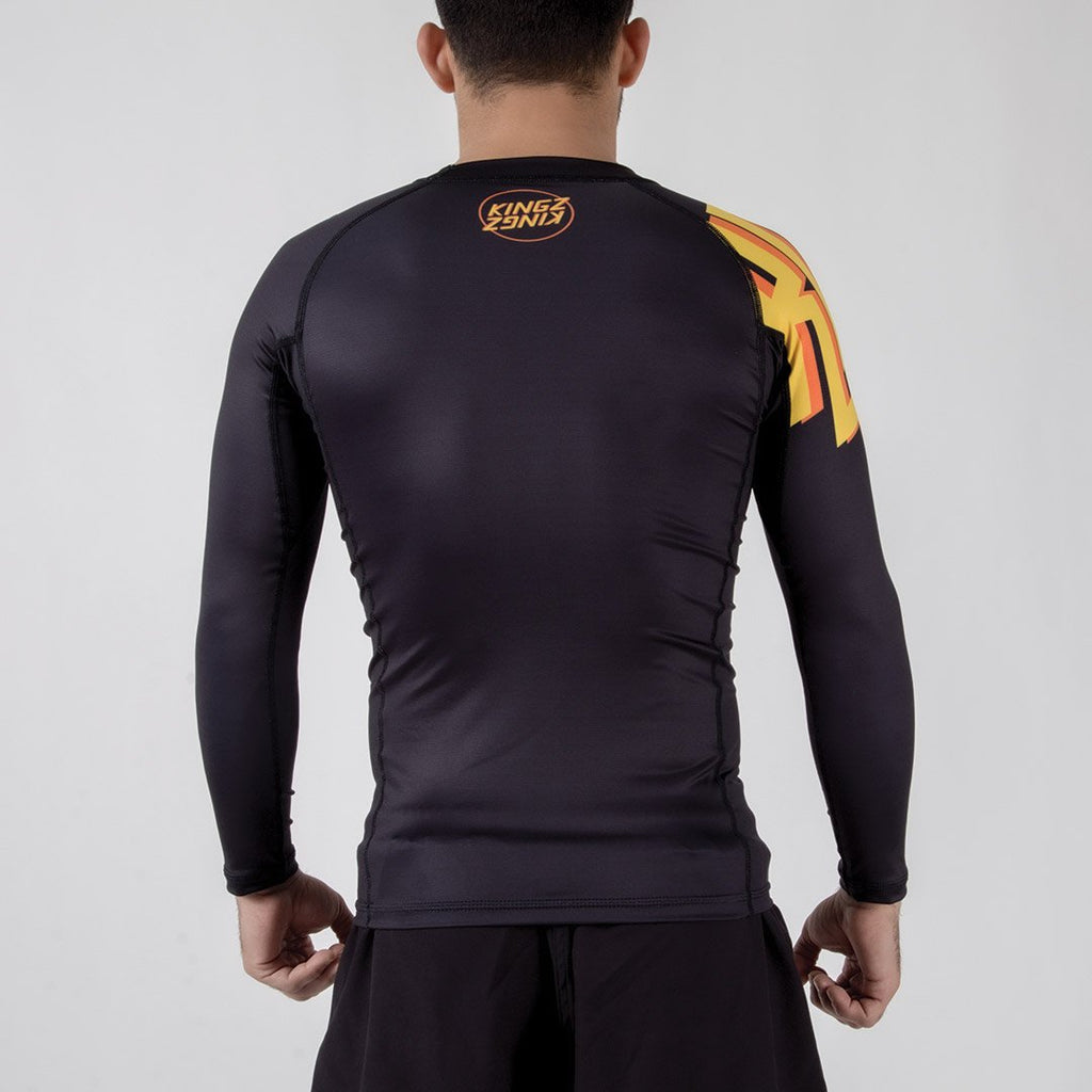 Kingz KGZ Rashguard Orange Edition Backwards Facing