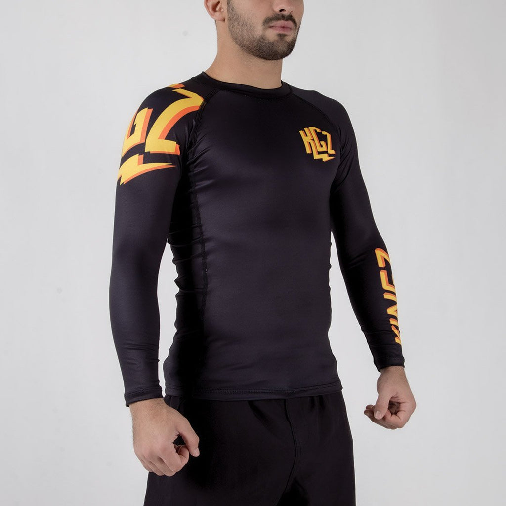 Kingz KGZ Rashguard Orange Edition Sideways Facing