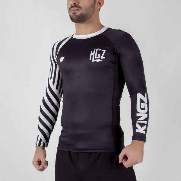 Kingz KGZ Ranked Rashguard-White forward facing
