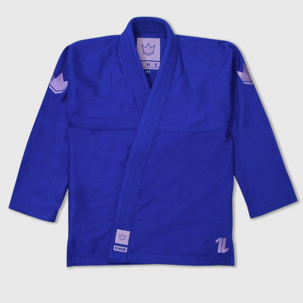 Kingz The ONE Womens Jiu Jitsu Gi - Blue/Lavender (Free white belt)