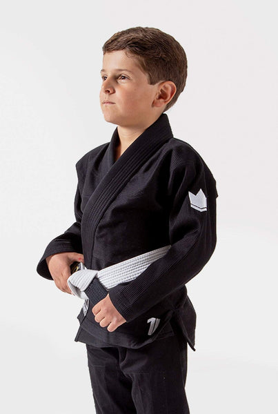 Kingz The ONE Kids Jiu Jitsu Gi-Black (Free white belt)