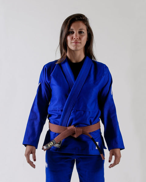 Kingz The ONE Women's Jiu Jitsu Gi- Blue (Free white belt)