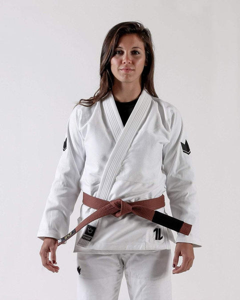 Kingz The ONE Women's Jiu Jitsu Gi- White (Free white belt)