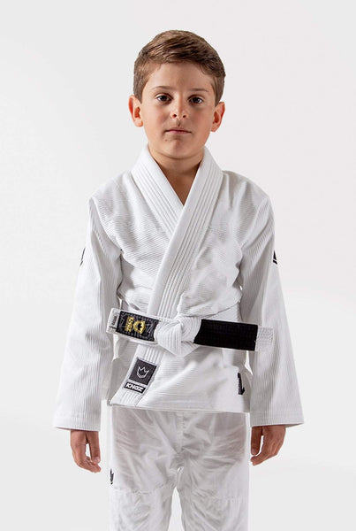 Kingz The ONE Kids Jiu Jitsu Gi-White (Free white belt)