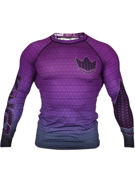 Crown 3.0 Ranked Rash Guard - Purple