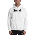 Scarred Skateboards Unisex Hoodie, White