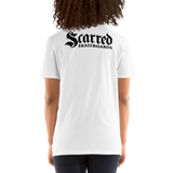 Scarred Skateboards Unisex T, Logo RF
