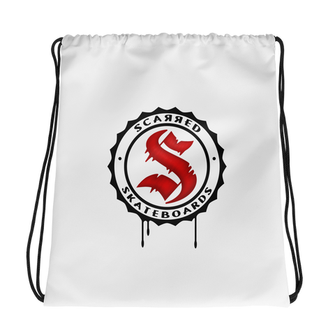 Scarred Skateboards Drawstring Bags