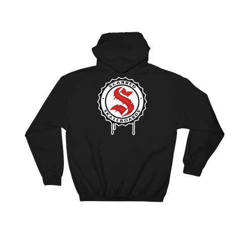 Scarred Skateboards Unisex Black Hoodie