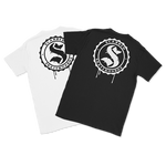 Scarred Skateboards T's, Black & White