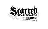 Scarred Skateboards Written Logo Stickers