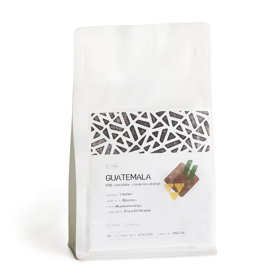 GUATEMALA  1kg-  EL MIRADOR - Orange. milk chocolate. cinnamon