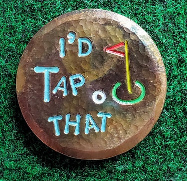 I'd Tap That (torched & hammered)