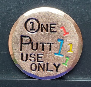 One Putt Use Only
