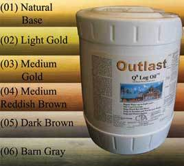 CTA Outlast Q8 Log and Deck Oil - Log Home Center