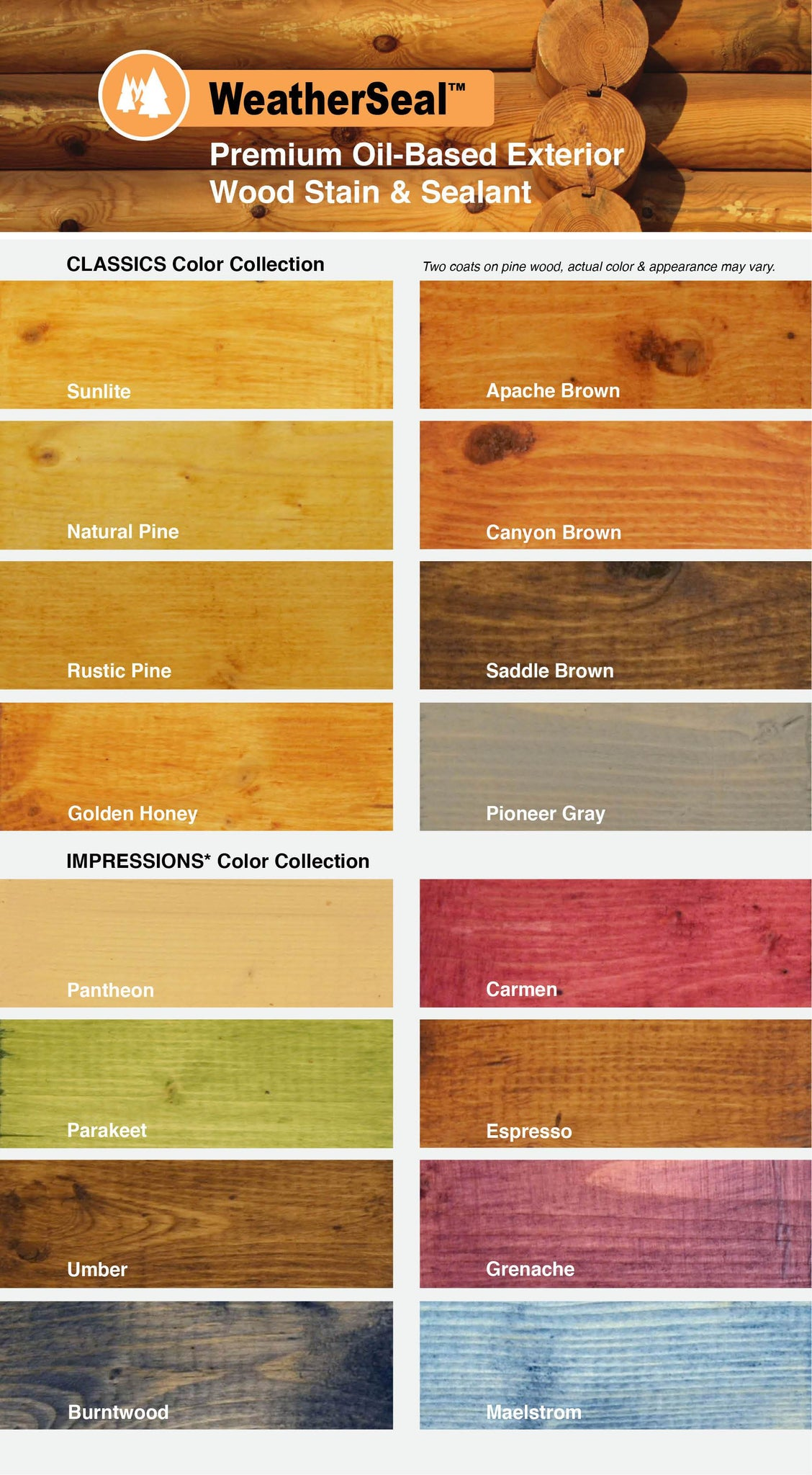 Continental Products Weatherseal Premium Exterior Wood Stain And Seala Log Home Center