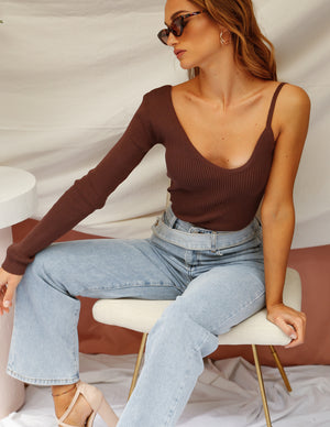 Maddie High Waist Asymmetrical Jean