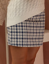 All Eyes On Me Tweed Multi Blue Skirt