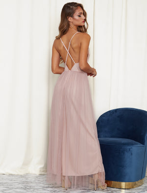 Pure Romantic Maxi Dress Pink - Pink & Flare