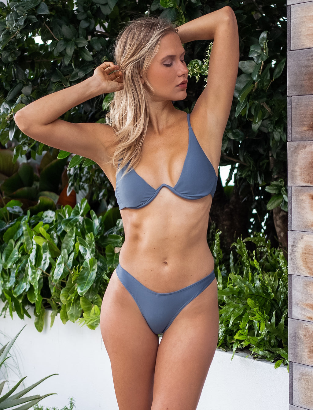Gisele Push Up Gray Bikini - Pink & Flare