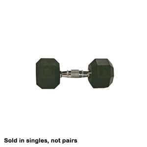 Rubber Hex Dumbbell 50 Lbs.