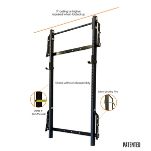 PRX Profile Fold-In Squat Rack With Pull-Up Bar