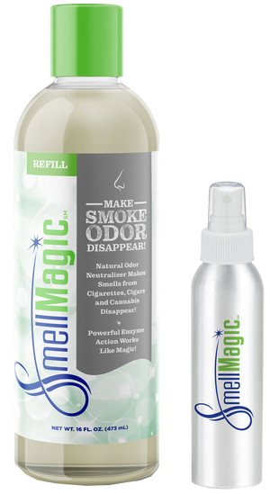 SmellMagic Smoke - 16oz Refill & Personal Sprayer 6 Pack