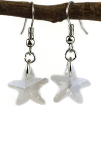 Starfish Dangle Earrings Sea Creature Jewelry Clear Transparent